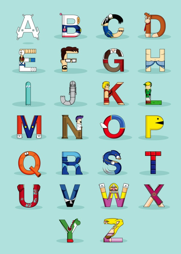 Character Design Letter : The simpsons alphabet