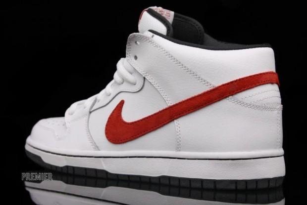 Nike Dunk Sb Mid Pro Blanc Rouge meilleures affaires 4okxSO