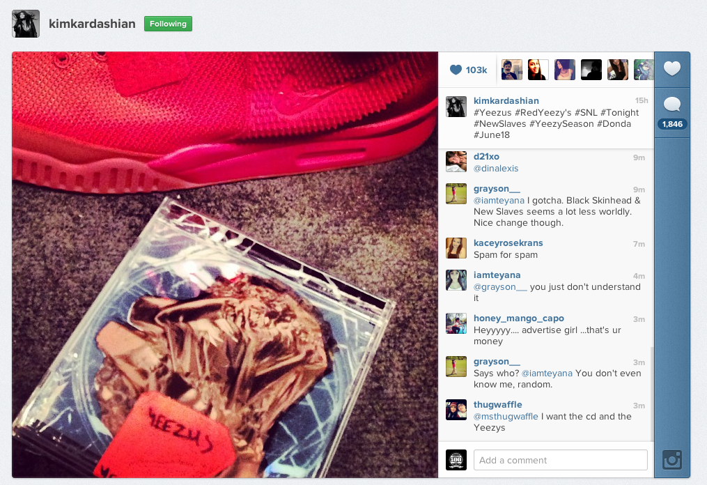 """Kanye West """"Yeezus"""" Album Cover & Air Yeezy 2 (Red) 