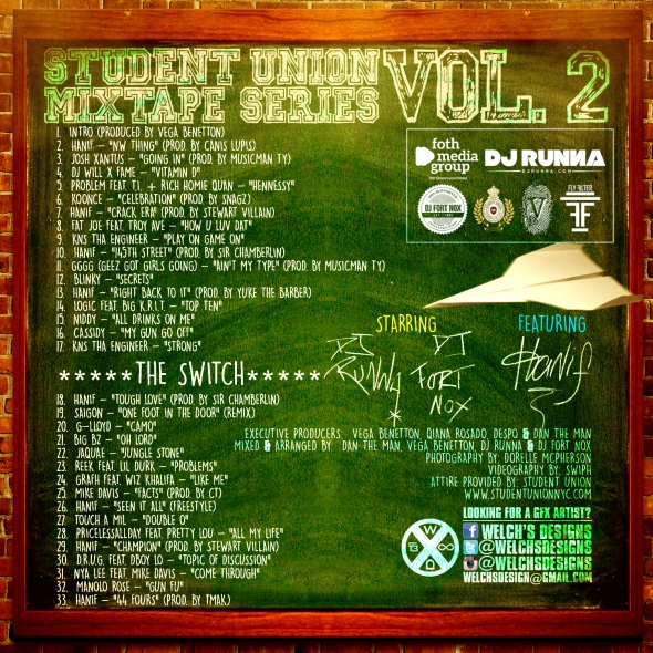 Student Union Mixtape Series Vol. 2 (Back Cover)